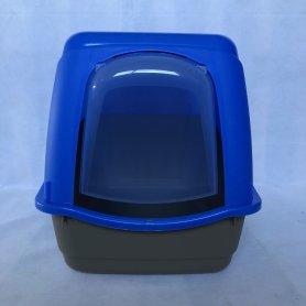 Arenero - Gatera Cubierta Azul Y Gris