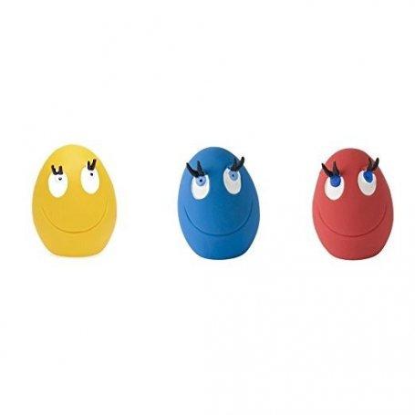 juguete para perros huevo con pestañas con colores surtidos. ideal para que los perros se entretengan