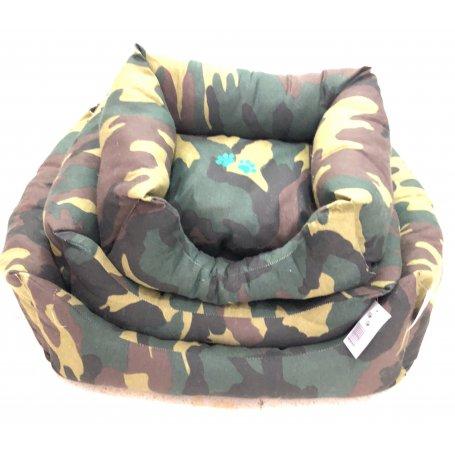 Cuna Para Perros Estampada Tela Militar Nº1