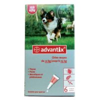 Pipeta Advantix (6 pipetas) para perros de 10 a 25kg