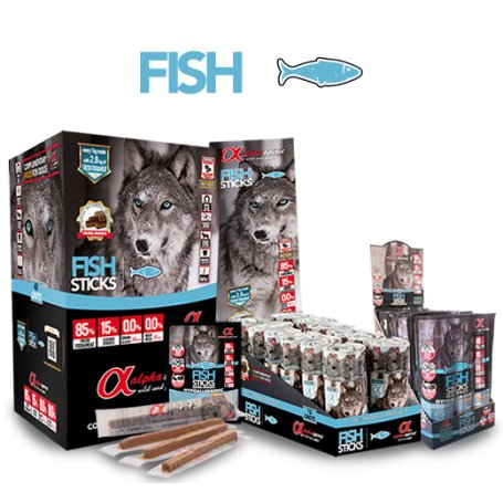 Snacks Alpha Spirit De Pescado Natural 16 Barritas