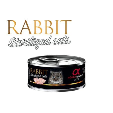 Alpha Spirit Comida Humeda Para Gatos Sterilizados Con Conejo 85Gr