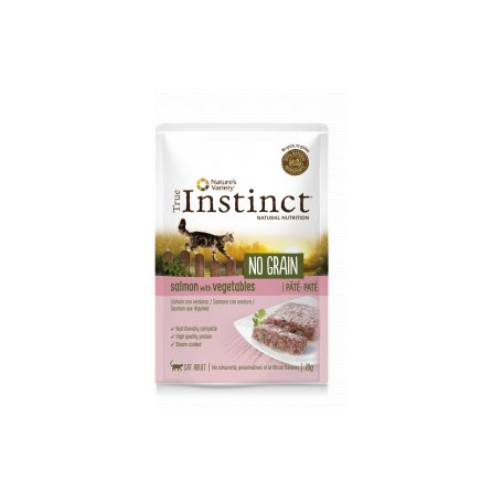 True Instinct No Grain Pate Salmon Y Vegetales 70Gr - Para Gatos