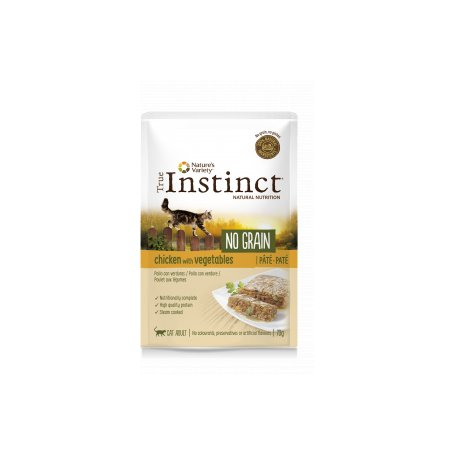 True Instinct No Grain Pate Con Pollo Y Verduras 70 Gr- Para Gatos