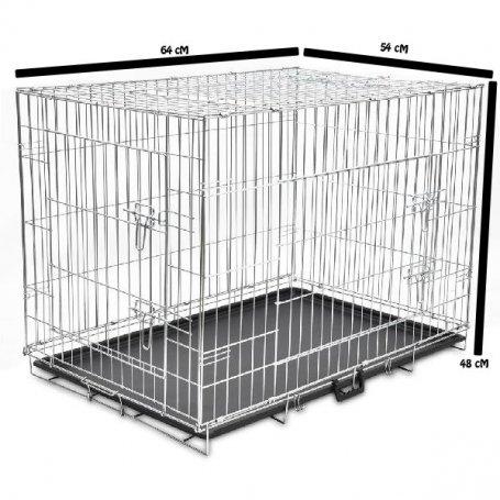Jaula Transportin Plegable Metal 64 X 54 X 48Cm - Para Perros