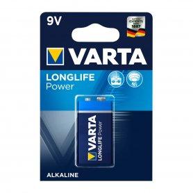 Pila Alcalina Varta 9V Longlife Power 6L.R.61 Blister 1 Pila