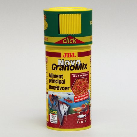 Jbl Novograno Mix Click 250Ml - Comida Para Peces Tropicales