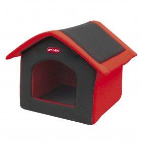 Casa Xt-Dog De Tela Para Perros Color Rojo Desmontable