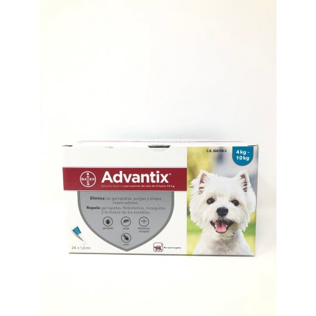 Pipeta Advantix 1 Pipeta Para Perros De 4 A 10Kg