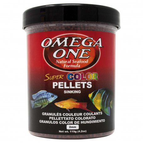 Pellets Super Color Omega One 270Ml Comida Para Peces Tropicales