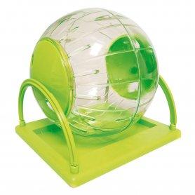 Bola Plastica Con Base Para Ejercisio Hamster 18,5Cm