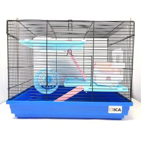 Jaula Para Hamster Modelo Hogar Rojo Y Negro