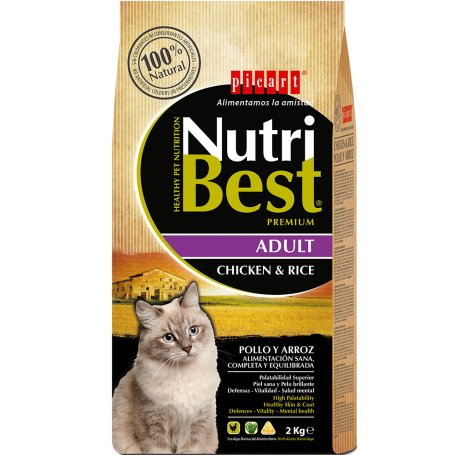 Pienso Nutribest Cat Adult Pollo Y Arroz 2Kg