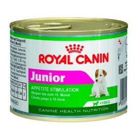 Royal Canin Lata 195gr, Mini Junior, Alimento Húmedo