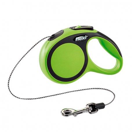 Flexi Comfort Cordon Xs Verde 3M Para Perros De Hasta 8Kg