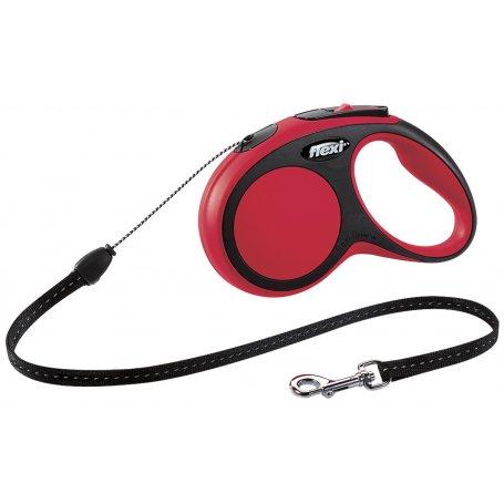 Flexi Comfort Cordon Xs Rojo 3M Para Perros De Hasta 8Kg