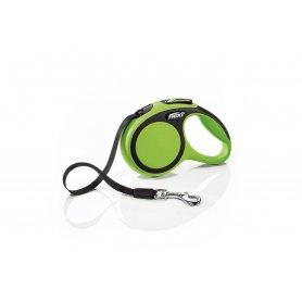 La correa extensible Flexi Comfort es un modelo moderno y funcional de la marca líder en correas extenxibles para perros