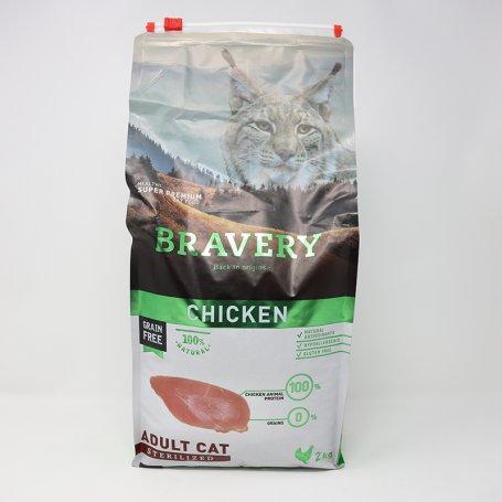 Pienso Bravery Cat Chicken Sterilised 2Kg