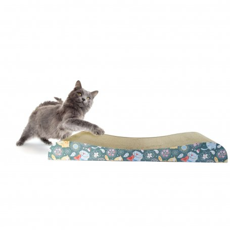 Rascador Para Gatitos De Carton Con Forma De Ola