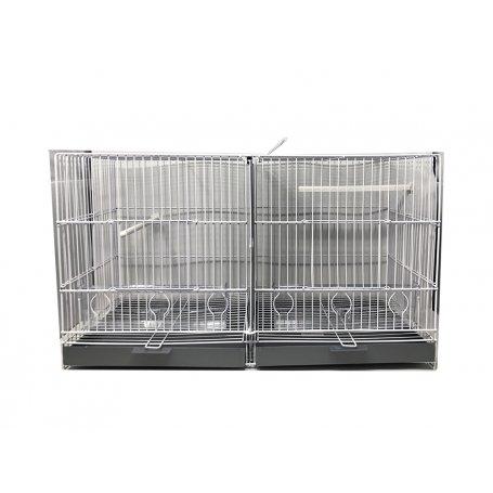 Jaula De Cria Con Separacion Alamber 58Cm Blanca, canarios y productos para pajaros en priego de cordoba