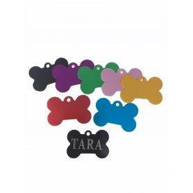 Medalla Hueso Color 37 X 25 Mm Placa Idenficativa, grabado de medallas para perros