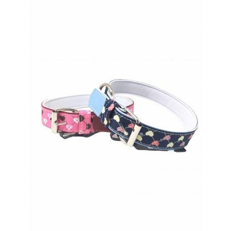Collar Para Perros Textil Corazones Talla 55