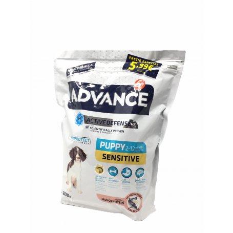 Advance Puppy Sensitive Salmon 800Gr Pienso Para Cachorros, perros saludables en priego de córdoba