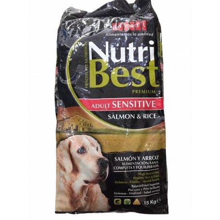 NUTRIBEST SALMON SENSITIVE PIENSO PARA PERROS ADULTOS 15KG, mi perro se divierte en priego de cordoba