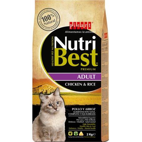 PIENSO NUTRIBEST CAT ADULT POLLO Y ARROZ 15KG, cuidados para mi gato en priego de cordoba