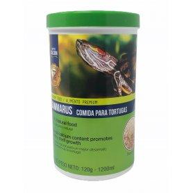 Comida Para Tortugas Acuaticas Gammarus 1,2 Litros 120Gr Dapac especial tortugas babys