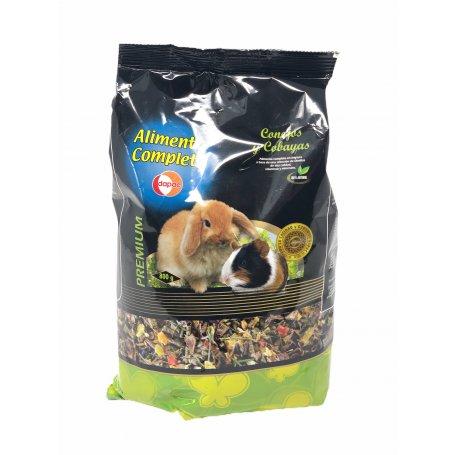 Alimento 800Gr PequñOs Roedores, Conejos, Cobayas Y Hamster Dapac