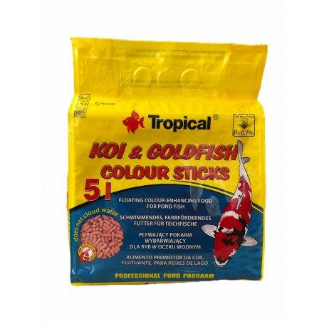 Tropical Koi & Goldfish Basic Sticks 5L 400Gr comida para peces de estanque