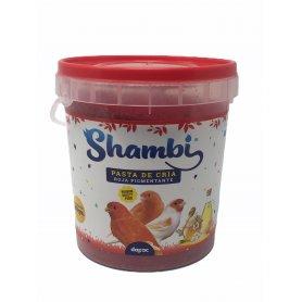 Pasta De Cria Roja 900Gr Shambi especial para canarios de factor rojo