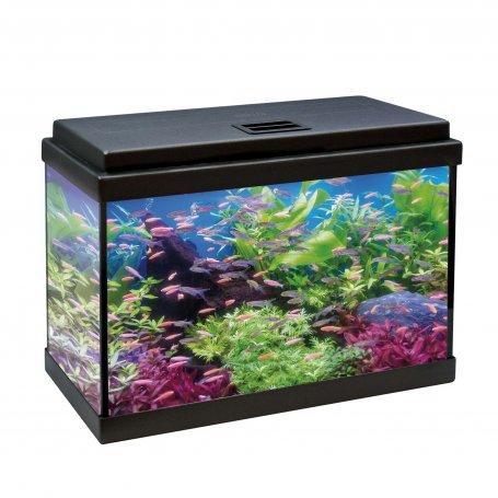 Kit Acuario Aqualed Negro 30 Litros 50Cm Largo en oferta