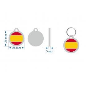 Medalla Redonda Bandera EspañA 25X25Mm
