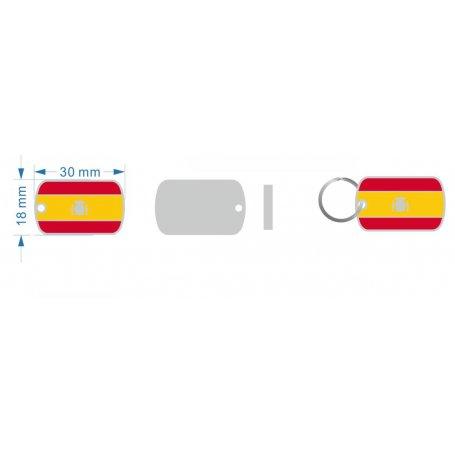 Medalla Larga Bandera EspañA 30*18Mm