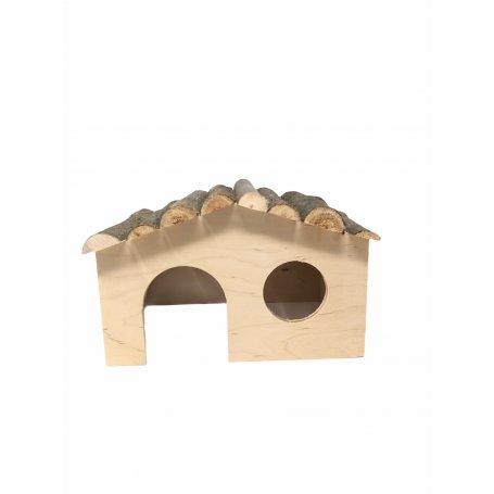 Caseta Madera Para Conejos 38 X 20 X23Cm ideal para conejos mini toy