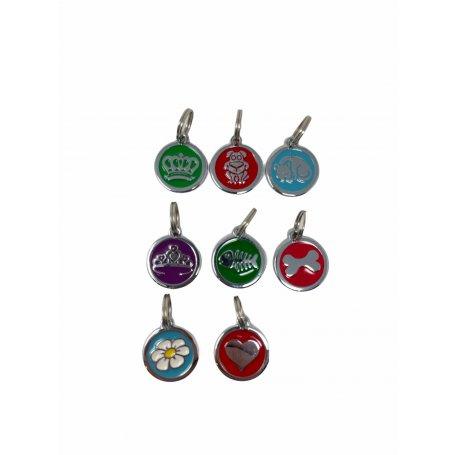 Medalla Redonda 25 X 25 Mm Dog Premium Terramar placa identificativa para perros