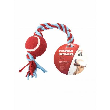 Juguete Cuerda Dental Elastic Con Pelota 41 Cm