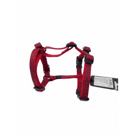 Arnes Para Perros Sportiv Plus 15Mm X 35-50 Cm Rojo regulable para cachorros y adultos.