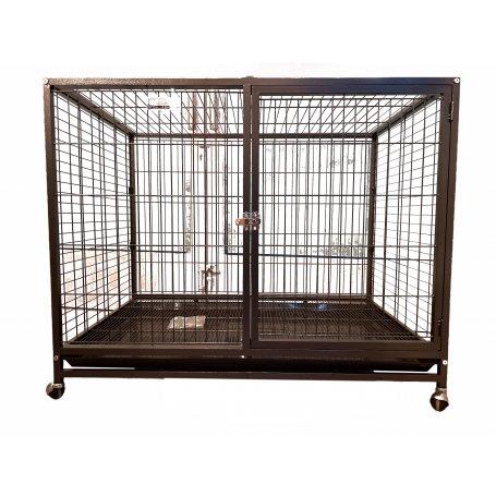 Jaula Para Perros Con Ruedas  110 X 70 X 90 Apertura Frontal