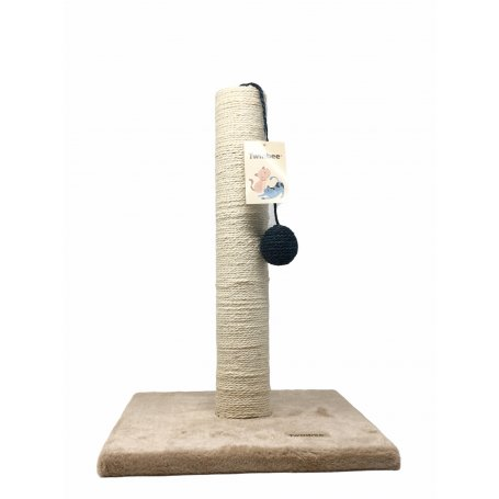 Rascador Base Cuadrada Poste De Sisal + Pelota 30 X 30 Cm mima a tu gato con Aquarium Terramar