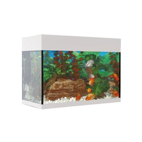 KIT ACUARIO AQUALUX 45L BLANCO