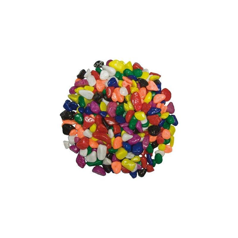 Grava 1kg 7mm Multicolor mate premium no tóxica