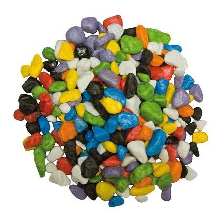 Grava para acuarios 2Kilos  7mm Multicolor