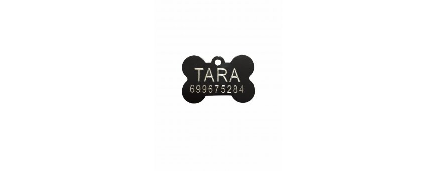 Placas y chapitas identificativas grabado personalizado para mascotas