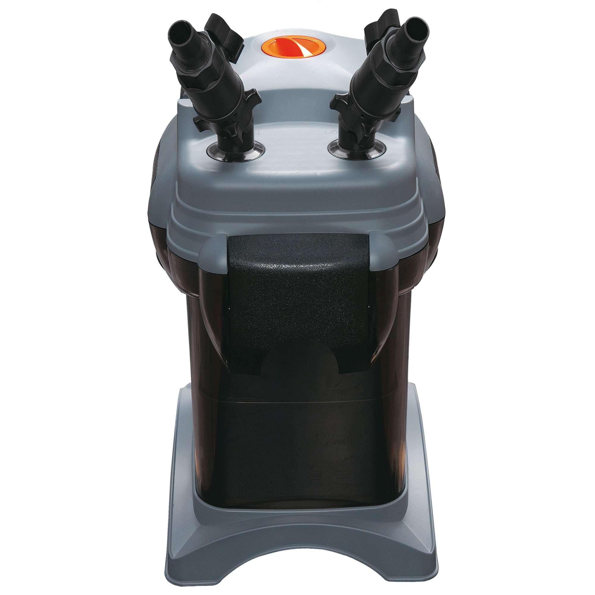 Filtro exterior TURBO-JET  Características:  Caudal regulable y boquillas orientables 360º. Auto-cebado: arranque automático. Incluye cargas. Módulos filtrantes independientes. Silencioso. Asa para su cómoda manipulación.