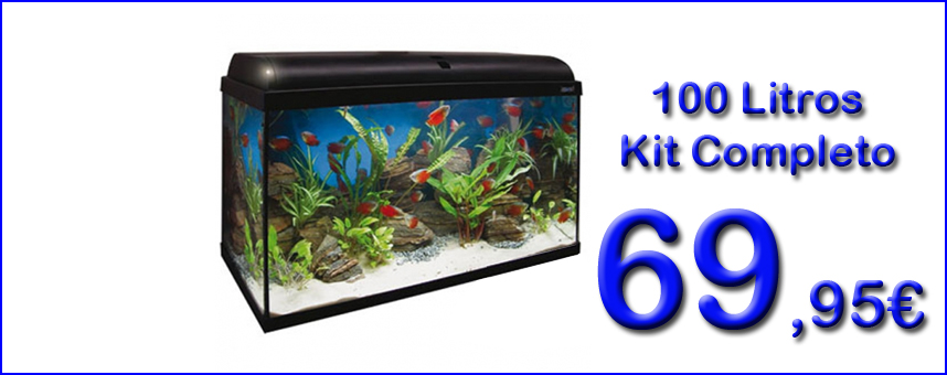 Acuario Kit Completo Aqua Light 100 Litros