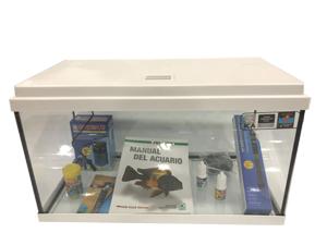acuario kit 60 litros aqua-led de color blanco