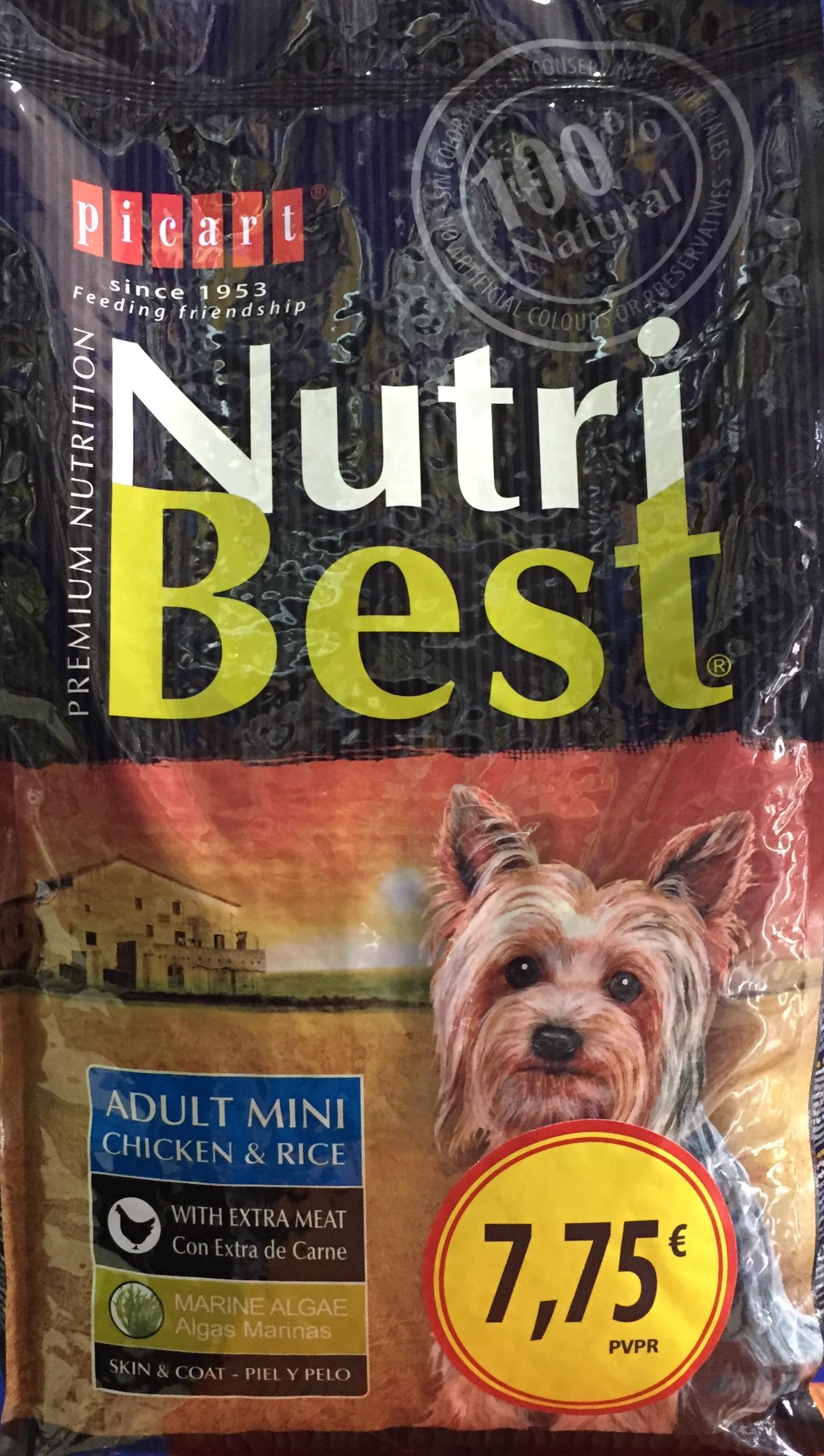 picart nutribest mini, pienso para perros.